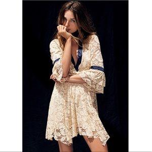 Free People Gilded Lace Mini Dress